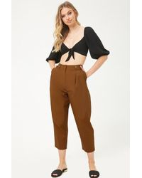 Forever 21 - Pantalón cropped - Lyst