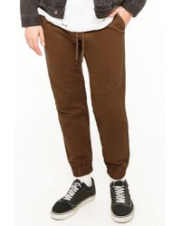 Forever 21 Joggers in twill - Marrone