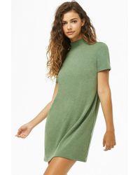8d5cae8d4422a Forever 21 - Mock Neck Mini T-shirt Dress - Lyst