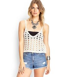 Forever 21   Open-knit Crop Top   Lyst