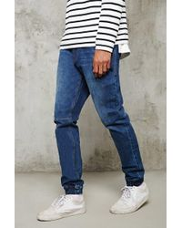 Forever 21 - Cuffed Slim-fit Jeans - Lyst