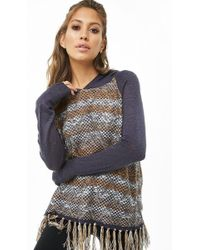 Forever 21 - Striped Hooded Sweater - Lyst