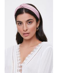 Forever 21 Twisted Self-tie Structured Headband - Multicolor