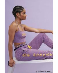 Forever 21 Los Angeles Lakers Sweatpants - Purple