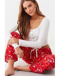 Forever 21 Surfing Santa Pyjama Pants , Red/multi