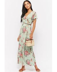 Forever 21 - Floral Faux-wrap Maxi Dress - Lyst