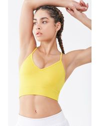 Forever 21 Low Impact - Crisscross Sports Bra - Yellow