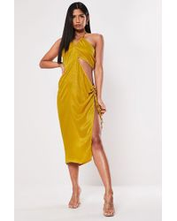 Missguided - Cutout Halter Dress At - Lyst