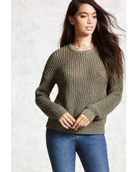 Forever 21 - Drop-sleeve Crew Sweater - Lyst