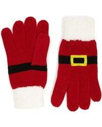 Forever 21 Holiday Santa Gloves , Red/multi