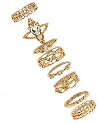 Forever 21 - Brocade Stackable Ring Set - Lyst