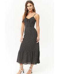 Forever 21 - Dot Print Midi Dress - Lyst