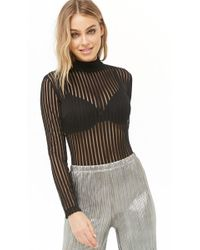 Forever 21 - Shadow Striped Bodysuit - Lyst