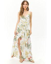 967b4813bc73 Lyst - Forever 21 Floral Print Maxi Skirt Romper