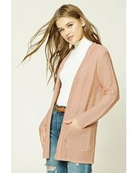 Forever 21 - Purl-knit Sweater Cardigan - Lyst