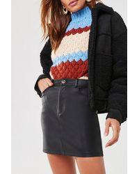Forever 21 Faux Leather Mini Skirt - Black