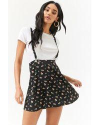 Forever 21 - Floral Rose Print Skirt - Lyst