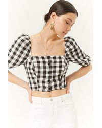 Forever 21 - Buffalo Check Crop Top - Lyst