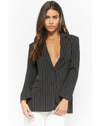 Forever 21 - Single-breasted Pinstriped Blazer - Lyst