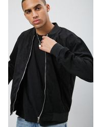 27a999dae 's Faux Suede Zip-up Bomber Jacket - Black