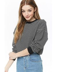 Forever 21 - Striped French Terry Jumper - Lyst