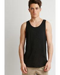 Forever 21 - 's Curved-hem Tank Top - Lyst