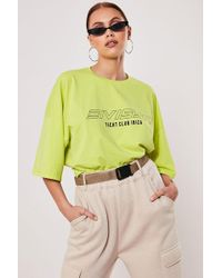 Missguided Ibiza Graphic Tee At , Lime