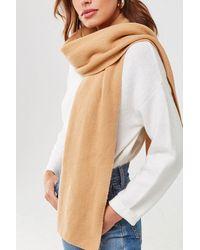 Forever 21 Brushed Knit Oblong Scarf , Camel - Natural