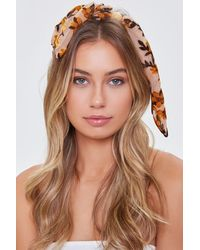 Forever 21 Floral Print Knotted Headwrap - Multicolor