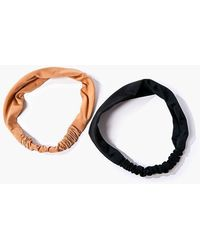 Forever 21 Soft Headwrap Set - Black