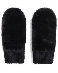 Forever 21 Faux Fur Mittens , Black