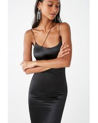 Forever 21 Satin Cami Dress - Black