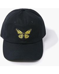 Forever 21 Butterfly Embroidered Graphic Dad Cap - Black