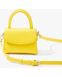 Forever 21 Mini Faux Leather Crossbody Bag - Yellow