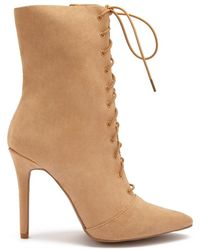b7dee9bf89a Forever 21 Lace-up Ankle Boots in Brown - Lyst