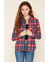 Forever 21 | Tartan Check Collared Shirt | Lyst