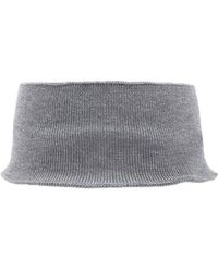 Forever 21 Wide Ribbed Headband - Grey
