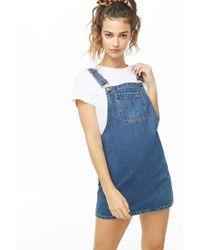 Forever 21 - Denim Overall Mini Dress - Lyst