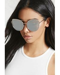 Forever 21 - Mirrored Cat Eye Sunglasses - Lyst