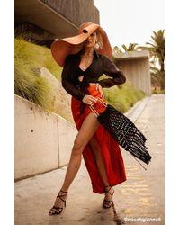 Missguided Satin Maxi Skirt At , Rust - Orange