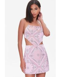 Forever 21 Paisley Print Mini Skirt - Pink