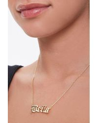 Forever 21 Bella Pendant Chain Necklace - Metallic