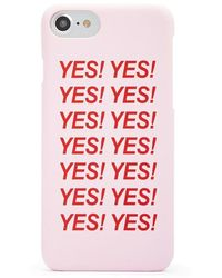 Forever 21 Yes Graphic Case For Iphone 6/7/8 In Pink
