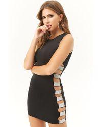 Forever 21 - Kikiriki Rhinestone Bodycon Mini Dress , Black - Lyst
