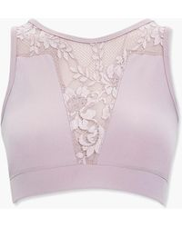 Forever 21 Lace Illusion Sports Bra - Pink