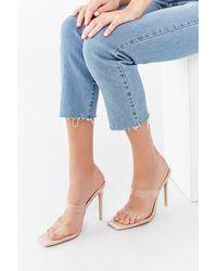 Forever 21 Rhinestone Stiletto Heels - Blue