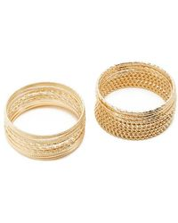 Forever 21 Assorted Bracelet Set , Gold - Metallic