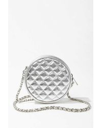 Forever 21 Quilted Faux Leather Crossbody - Metallic