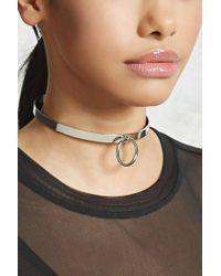 Forever 21 - O-ring Collar Choker - Lyst