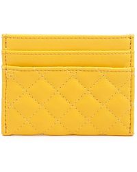 Forever 21 Faux Leather Quilted Cardholder - Yellow